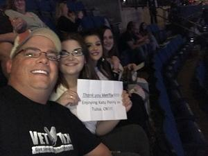 Kris attended Katy Perry: Witness the Tour on Nov 29th 2017 via VetTix