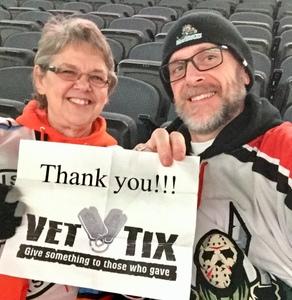 Ronald attended Kansas City Mavericks vs. Colorado Eagles - ECHL on Dec 16th 2017 via VetTix