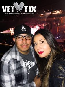 Noe attended Guns N' Roses: Not in This Lifetime Tour on Nov 29th 2017 via VetTix