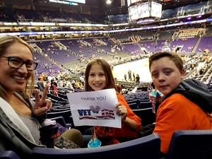 Lisa attended Phoenix Suns vs. Toronto Raptors - NBA on Dec 13th 2017 via VetTix