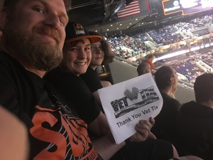 Raymond attended Phoenix Suns vs. Toronto Raptors - NBA on Dec 13th 2017 via VetTix