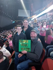 Cory attended Katy Perry: Witness the Tour on Dec 2nd 2017 via VetTix