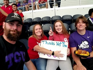 Aaron attended Big 12 Championship Game - TCU vs. Oklahoma on Dec 2nd 2017 via VetTix