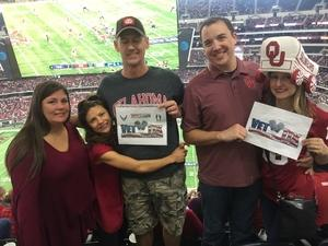 JEFFREY attended Big 12 Championship Game - TCU vs. Oklahoma on Dec 2nd 2017 via VetTix