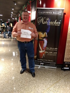 Robert attended The Nutcracker Performed by California Ballet Company on Dec 15th 2017 via VetTix