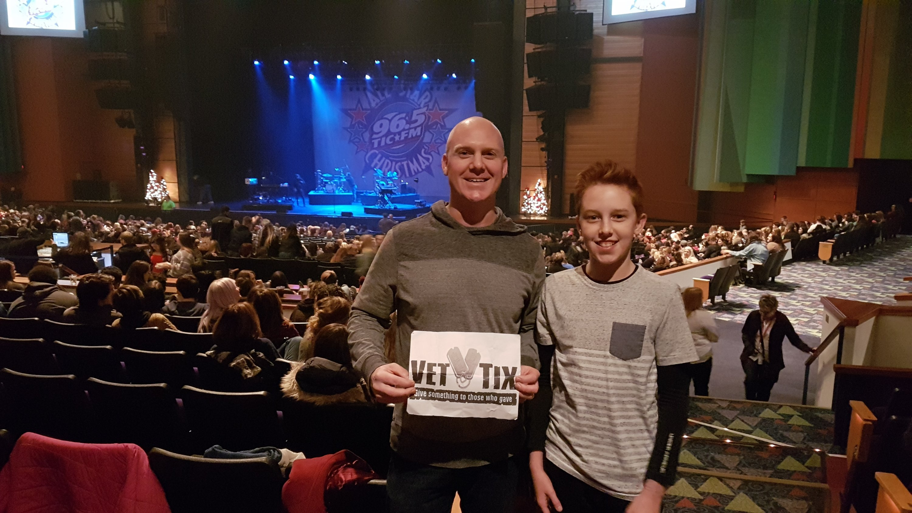 ethan attended 965 tic all star christmas featuring fall out boy bleachers and more - Fall Out Boy Christmas