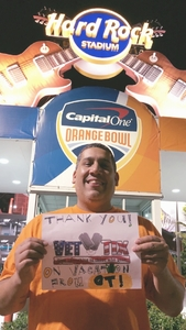 Placido attended 2017 Capital One Orange Bowl - Wisconsin Badgers vs. Miami Hurricanes - NCAA Football on Dec 30th 2017 via VetTix