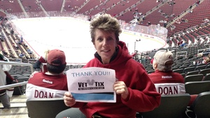 Stephanie attended Arizona Coyotes vs. Tampa Bay Lightning - NHL on Dec 14th 2017 via VetTix