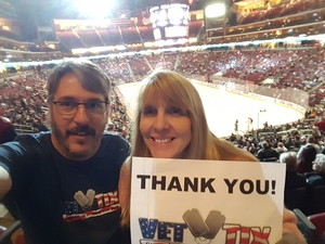 Michael attended Arizona Coyotes vs. Tampa Bay Lightning - NHL on Dec 14th 2017 via VetTix