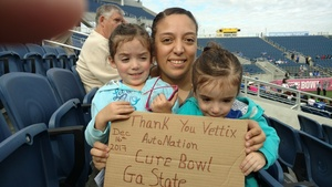 Mercedes attended Autonation Cure Bowl - Georgia State vs. Western Kentucky - NCAA Football on Dec 16th 2017 via VetTix