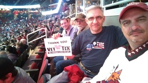 Rich attended Arizona Coyotes vs. Tampa Bay Lightning - NHL on Dec 14th 2017 via VetTix