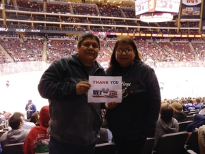 Anthony attended Arizona Coyotes vs. Tampa Bay Lightning - NHL on Dec 14th 2017 via VetTix