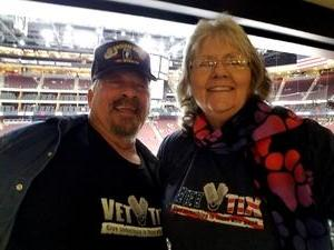 Marion attended Arizona Coyotes vs. Tampa Bay Lightning - NHL on Dec 14th 2017 via VetTix