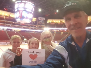 Steven attended Arizona Coyotes vs. Tampa Bay Lightning - NHL on Dec 14th 2017 via VetTix