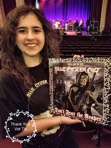 Antonio attended Blue Oyster Cult on Jan 19th 2018 via VetTix