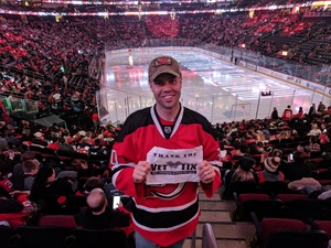 Jesse attended New Jersey Devils vs. Chicago Blackhawks - NHL on Dec 23rd 2017 via VetTix