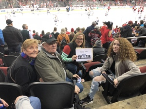 Megan attended New Jersey Devils vs. Chicago Blackhawks - NHL on Dec 23rd 2017 via VetTix
