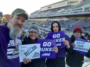 William attended James Madison University vs. South Dakota State - FCS Semifinals - NCAA Football on Dec 16th 2017 via VetTix