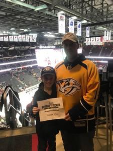 Matthew attended New Jersey Devils vs. Nashville Predators - NHL on Jan 25th 2018 via VetTix