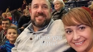 Thomas attended Cirque Holiday Musica Presents Believe on Dec 20th 2017 via VetTix