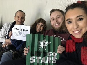 LNAVY attended Dallas Stars vs. Columbus Blue Jackets - NHL on Jan 2nd 2018 via VetTix