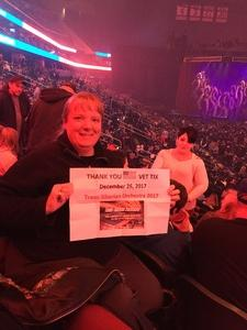 Lucie attended Trans-siberian Orchestra Presented by Hallmark Channel - 8 Pm Show on Dec 26th 2017 via VetTix