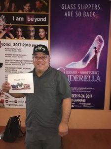 Greg attended Rodgers + Hammerstein's Cinderella - Christmas Eve Matinee on Dec 24th 2017 via VetTix