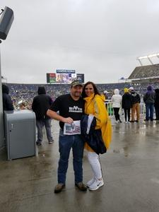 Shannon attended Citrus Bowl Presented by Overton's - Notre Dame Fighting Irish vs. LSU Tigers - NCAA Football on Jan 1st 2018 via VetTix