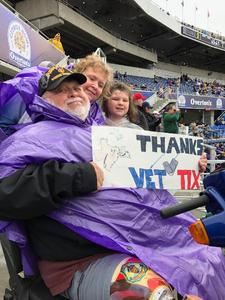 JAMES attended Citrus Bowl Presented by Overton's - Notre Dame Fighting Irish vs. LSU Tigers - NCAA Football on Jan 1st 2018 via VetTix