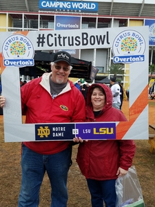 David attended Citrus Bowl Presented by Overton's - Notre Dame Fighting Irish vs. LSU Tigers - NCAA Football on Jan 1st 2018 via VetTix