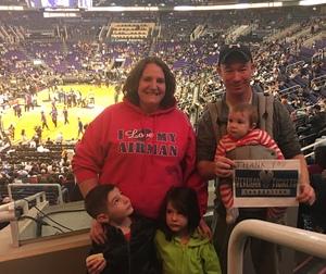 Caleb attended Phoenix Suns vs. Philadelphia 76ers - NBA on Dec 31st 2017 via VetTix