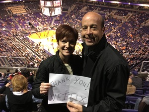 Frederick attended Phoenix Suns vs. Atlanta Hawks - NBA on Jan 2nd 2018 via VetTix