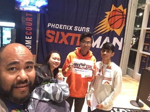 Jerome attended Phoenix Suns vs. Atlanta Hawks - NBA on Jan 2nd 2018 via VetTix