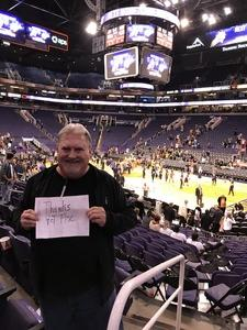 James attended Phoenix Suns vs. Atlanta Hawks - NBA on Jan 2nd 2018 via VetTix