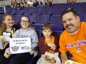 Travis attended Phoenix Suns vs. Atlanta Hawks - NBA on Jan 2nd 2018 via VetTix