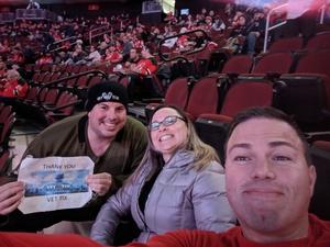 Gregory attended New Jersey Devils vs. Calgary Flames - NHL on Feb 8th 2018 via VetTix