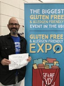 Mark attended Gluten Free & Allergen Friendly Expo on Apr 21st 2018 via VetTix