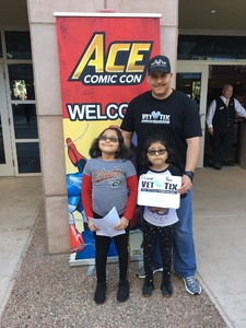Click To Read More Feedback from Ace Comic Con at Gila River Arena (tickets Only Good for Monday, January 15th)