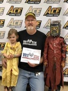Mark attended Ace Comic Con at Gila River Arena (tickets Only Good for Monday, January 15th) on Jan 15th 2018 via VetTix