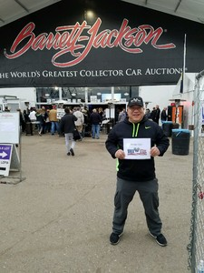 Greg attended Barrett Jackson - the Worlds Greatest Collector Car Auctions - Saturday Jan 20th Only on Jan 20th 2018 via VetTix