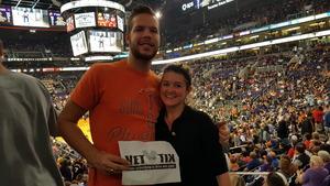 Jacob attended Phoenix Suns vs. Houston Rockets - NBA on Jan 12th 2018 via VetTix