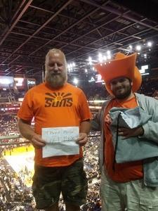Don attended Phoenix Suns vs. Houston Rockets - NBA on Jan 12th 2018 via VetTix