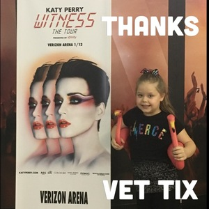 Virginia Taylor attended Katy Perry: Witness the Tour on Jan 12th 2018 via VetTix