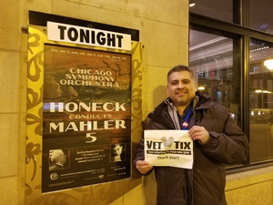 Samuel attended Honeck Conducts Mahler 5 - Presented by the Chicago Symphony Orchestra on Jan 30th 2018 via VetTix