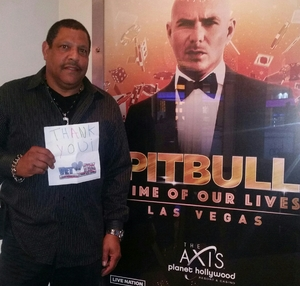 Walter attended Pitbull - Time of Our Lives on Jan 24th 2018 via VetTix