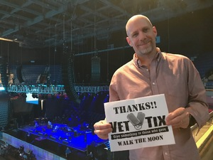 Matt T attended Walk the Moon - Press Restart Tour on Jan 20th 2018 via VetTix