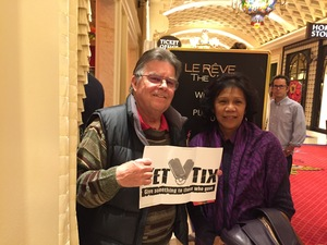 Larry attended Le Reve the Dream at the Wynn Theatre for Tonight on Jan 9th 2018 via VetTix