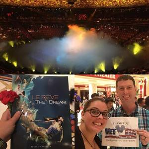 Craig attended Le Reve the Dream at the Wynn Theatre for Tonight on Jan 9th 2018 via VetTix