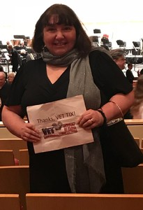 Esther attended Brahms First Symphony - Friday on Jan 12th 2018 via VetTix