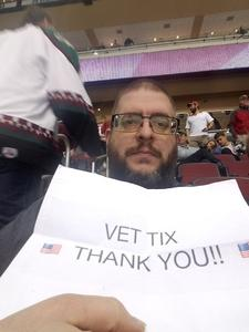 David attended Arizona Coyotes vs. Dallas Stars - NHL on Feb 1st 2018 via VetTix